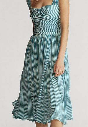 Ralph Lauren ワンピース 新作♪ 国内発送 Striped Fit-and-Flare Dress(4)