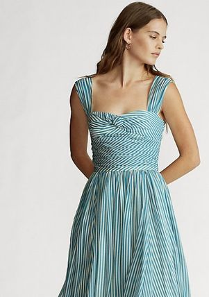 Ralph Lauren ワンピース 新作♪ 国内発送 Striped Fit-and-Flare Dress(5)