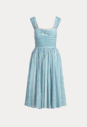 Ralph Lauren ワンピース 新作♪ 国内発送 Striped Fit-and-Flare Dress(7)
