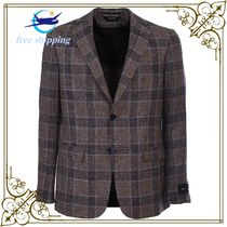 Z Zegna prince of wales jacket, brown,