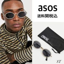 ASOS 新作 EDITION goldframe oval glassesdiamantes 送料関税込