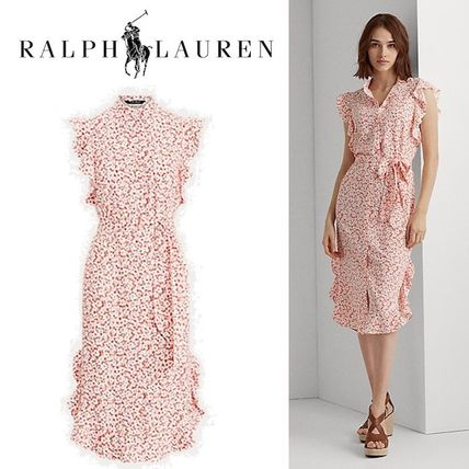 POLO RALPH LAUREN ワンピース 入手困難!完売必須!POLO RALPH LAUREN Floral Ruffled Dress