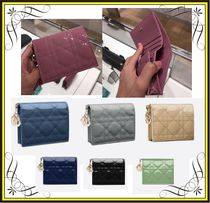 【Dior】MINI LADY DIOR CALFSKIN WALLET