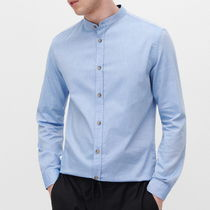 """RESERVED MEN"" GRANDAD SHIRT BLUE"