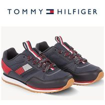 【Tommy Hilfiger】☆キッズ☆TH KIDS NAVY FLAG JOGGER