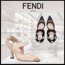 FENDI SLINGBACK Colibri in mesh and leather