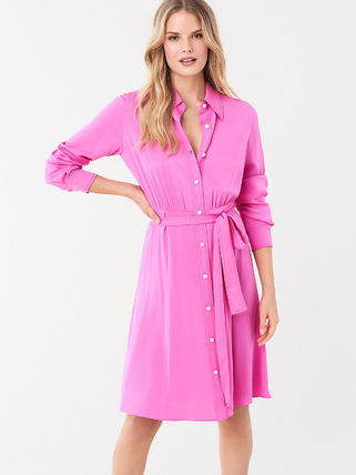 DIANE von FURSTENBERG ワンピース セール! DVF Aliana Silk Crepe De Chine Shirt Dress(2)