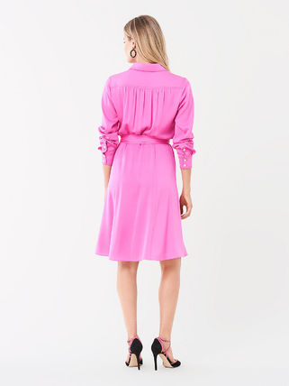 DIANE von FURSTENBERG ワンピース セール! DVF Aliana Silk Crepe De Chine Shirt Dress(3)