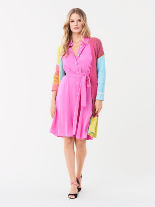 DIANE von FURSTENBERG ワンピース セール! DVF Aliana Silk Crepe De Chine Shirt Dress(5)