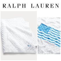 【Ralph Lauren】●日本未入荷●Cable-Knit Flag Throw Blanket