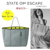【希少】★State of Escape★FLYING SOLO★Gray×Neon yellow♪