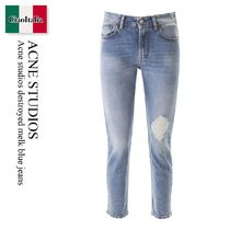 Acne studios destroyed melk blue jeans