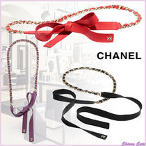 【20SS NEW】CHANEL_women / ラムスキンベルト / RED/BLK/PPL