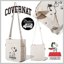 COVERNAT(コボナッ) トートバッグ COVERNAT PEANUTS FRIENDSHIP SMALL CROSS BAG MH1634 追跡付