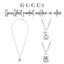 【GUCCI】GucciGhost pendant necklace in silver ネックレス