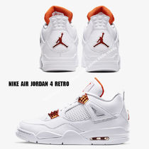 NIKE★AIR JORDAN 4 RETRO★WHITE/TEAM ORANGE/METALLIC SILVER