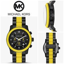 【Michael Kors】Runway Black-Tone and Silicone Watch