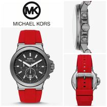 【Michael Kors】Dylan Gunmetal-Tone and Silicone Watch
