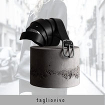 tagliovivo Belt 'Rect Buckle Belt black'