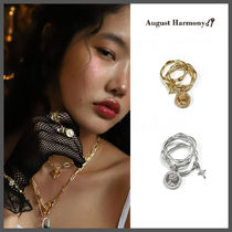 ◆AUGUST HARMONY◆ QUEEN LOVE 3SET COIN RING (2色) おしゃれ