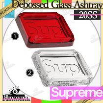 20SS /Supreme Debossed Glass Ashtray グラス 灰皿 小物トレイ