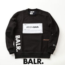 BALR.ボーラースウェット PATCH STRAIGHT CREWNECK b10084-black