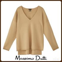 MassimoDutti♪TOTAL LOOK V-NECK CAPE SWEATER