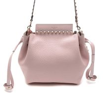 VALENTINO★rock stud  bucket bag pink シボ(謝恩品EMS関税込)