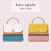 【KATE SPADE】romy wicker medium top-handle bag
