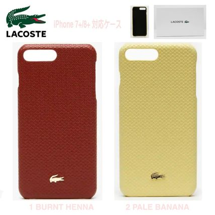 LACOSTE スマホケース・テックアクセサリー 特別SALE★ロゴ【送込 LACOSTE】iphone 7+/8+★蛇柄/鰐マーク