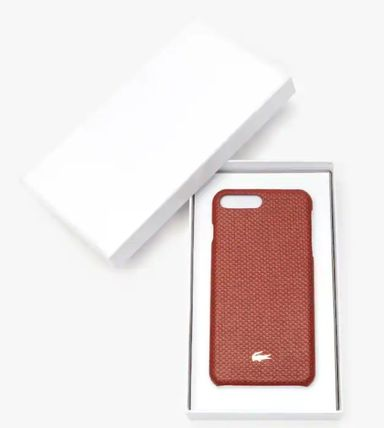 LACOSTE スマホケース・テックアクセサリー 特別SALE★ロゴ【送込 LACOSTE】iphone 7+/8+★蛇柄/鰐マーク(4)