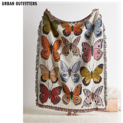 Urban Outfitters ブランケット Urban Outfitters/Butterfly reversibleブランケット関送込