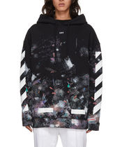 Off-White Exclusive Black Galaxy Brush Hoodie
