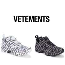 [ VETEMENTS ]  Logo Lettered Sneakers