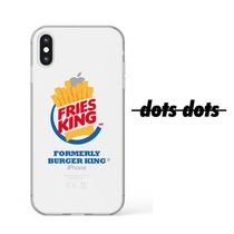 【dots dots】韓国発 FRIES KING iPhone クリアケース