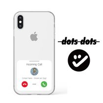 【dots dots】韓国発 INCOMING CALL iPhone クリアケース