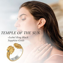 【TEMPLE OF THE SUN】Isabel Ring Black Sapphire Gold★リング