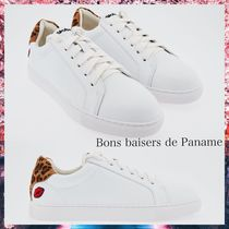 Bons baisers de Panameパリ発!AMOUR LEOPARDレザースニーカー