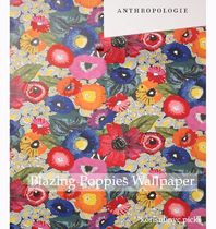 お家時間に模様替え*Anthropologie  Blazing Poppies Wallpaper