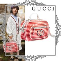 GUCCI Kids レッド ヴィシー チェック バッグ 関送込 大人もOK