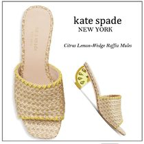 【国内発送】Citrus Lemon-Wedge Raffia Mulesセール