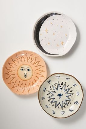 Urban Outfitters 食器(皿) 【Urban Outfitters】神秘的モチーフ☆陶製プレート Boho Plate