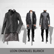 LEON EMANUEL BLANCK Distortion Leather Jacket, dark grey