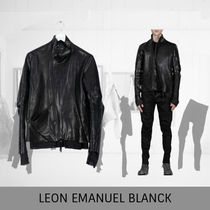 LEON EMANUEL BLANCK Distortion  Leather Jacket With Lining