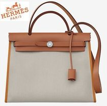 HERMES◆HERBAG ZIP 31 Beton/Toffee/Nature◆
