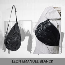 LEON EMANUEL BLANCK  Dealer Bag M, black, horse leather