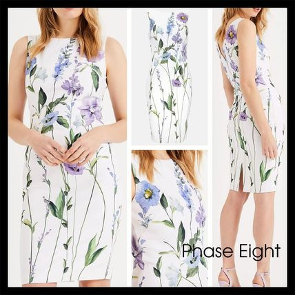 【Phase Eight】エレガント May Stem Flower Cotton Dress Ivory