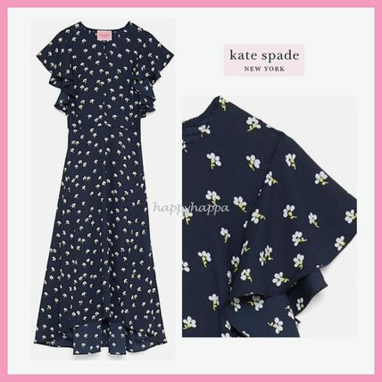 kate spade new york(ケイトスペード) ワンピース 【kate spade】デイジー柄☆daisy toss flutter sleeve dress