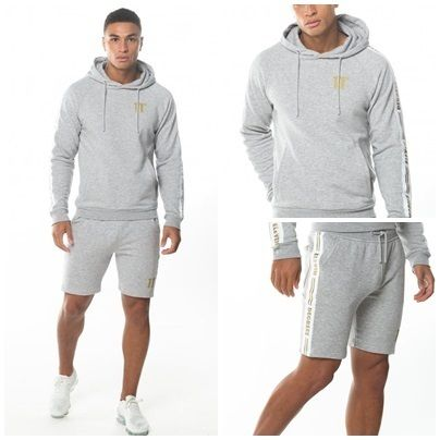 11 Degrees セットアップ 【 11Degrees】TAPED HOODIE SHORTS上下セット 関税送料込み