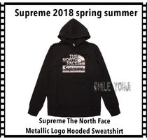 Supreme X The North Face Metallic Logo Hooded Sweatshirt
